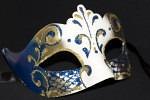 Blue & Gold Venetian Mask